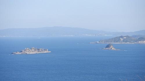 権現山展望台から見た軍艦島