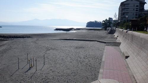 砂むし会館 砂楽から見た海岸
