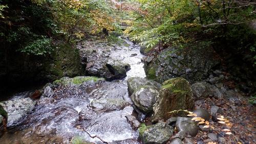神庭の滝から流れる川