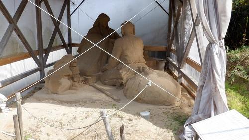 白兎神社にある砂の像