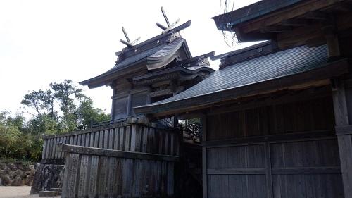 白兎神社の本殿周辺