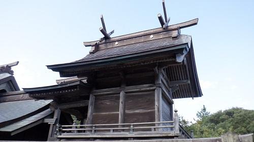 白兎神社本殿と拝殿