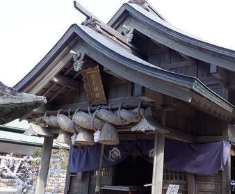縁結びスポット白兎神社の拝殿