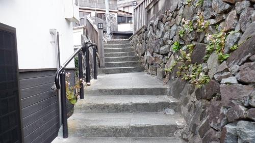 有福温泉内の階段の1つ