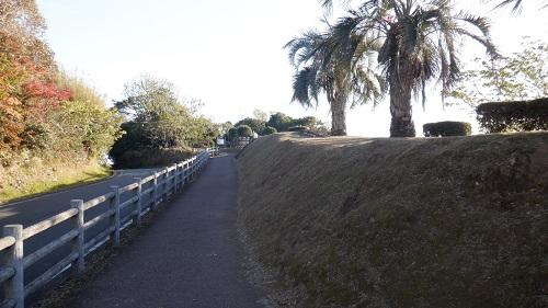 クルスの海展望台への道