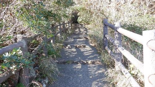 細島灯台への遊歩道