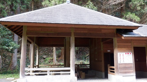 福貴野の滝休憩所