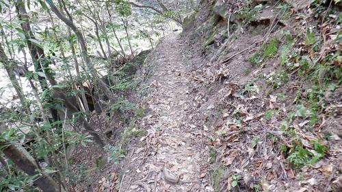 福貴野の滝の細い遊歩道