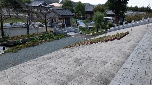 孔子公園内階段からの景色