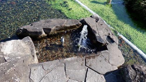 前川水源からの湧水を注ぐ場所
