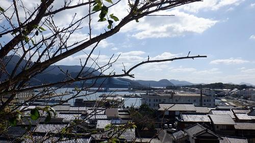 生月大魚籃観音周辺の海が見える光景