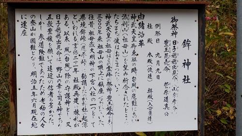 鉾神社の説明看板
