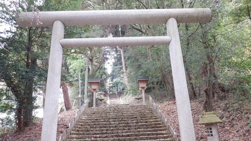 天岩戸神社東本宮の入口鳥居