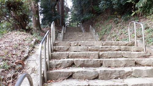 天岩戸神社東本宮の拝殿へ続く階段