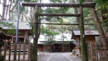 天岩戸神社東本宮の鳥居と拝殿