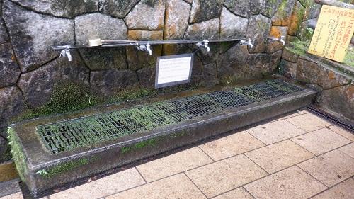 水の口湧水の給水蛇口