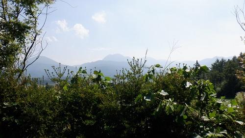 山と緑に囲まれたべべんこの庭