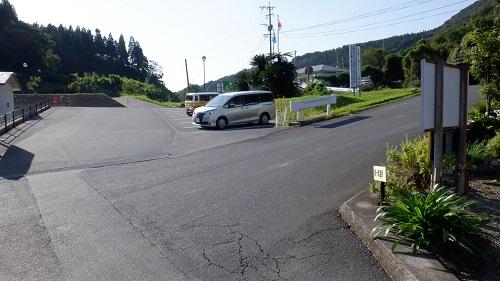 猿ヶ城ラドン療養泉の駐車場