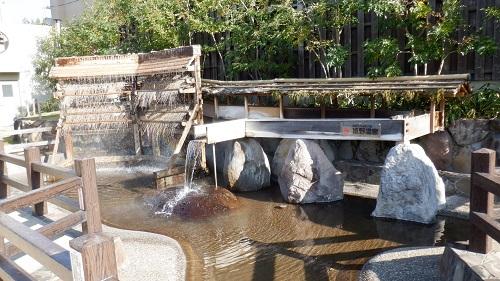 嬉野温泉湯けむり公園の湯雨竹とミニ湯畑