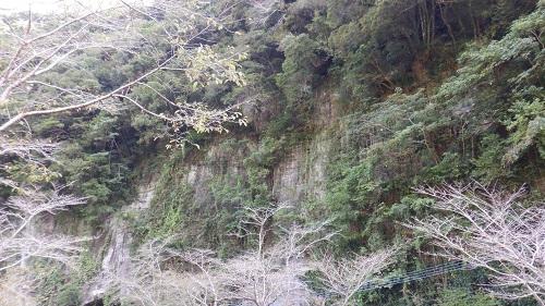 禁止令をイメージした崖の光景