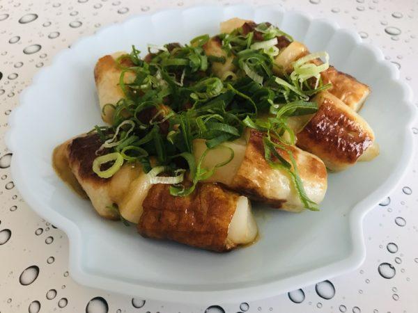 竹輪とモチの料理