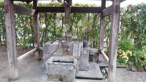 山鹿温泉内の井戸