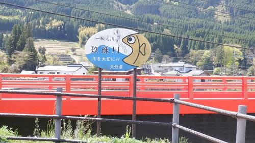 玖珠川の案内看板