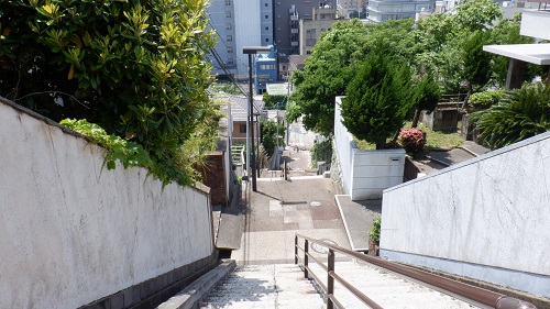 階段の上からの光景