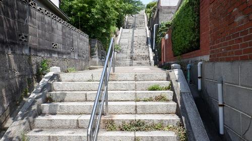 日和山公園への階段