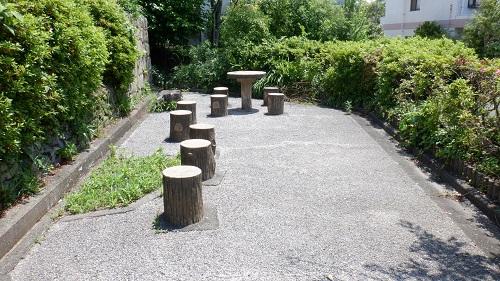 日和山公園の休憩場