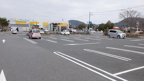 道の駅みとうの駐車場